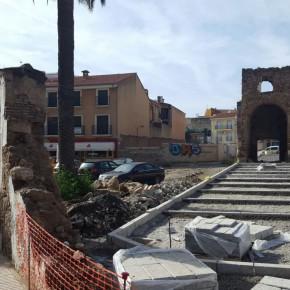 Ciudadanos (C's) critica el retraso de la obra del aparcamiento de la Puerta del Sol y pide aumentar la zona de recreo para los niños.
