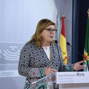 Victoria Domínguez advierte a la Junta que recortar inversiones es recortar el empleo y el desarrollo de Extremadura