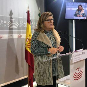 """Victoria Domínguez: """"Nos preocupa mucho que Extremadura tenga un 25% de paro y que siga perdiendo población activa"""""""