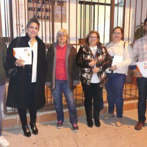 Cs Montijo recoge las demandas de la asociación 'El Valle' entre las que destaca una mejora en infraestructuras y limpieza