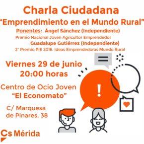 Cs Mérida organiza mañana una charla sobre 'Emprendimiento en el mundo rural'