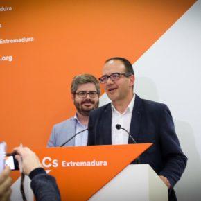 """Hervías: """"Cayetano Polo tiene el ADN de Ciudadanos y es la persona idónea para liderar el cambio que Extremadura necesita"""""""