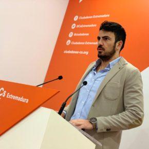 """Salazar (Cs) afirma que Extremadura """"merece un proyecto de región"""" que mejore las cifras de paro """"y así lo harán saber los extremeños en mayo"""""""