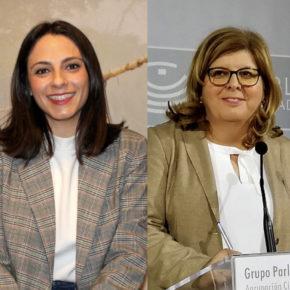 María José Calderón y María Victoria Domínguez ,  candidatas de Extremadura al Congreso de los Diputados