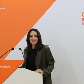 """María José Calderón asegura que Ciudadanos """"es la única alternativa"""" para que Extremadura """"pueda converger"""" con el resto de comunidades"""