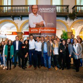 """Polo reta a Vara y a Monago a que debatan las propuestas de Ciudadanos """"en los medios que quieran y cuando quieran"""""""