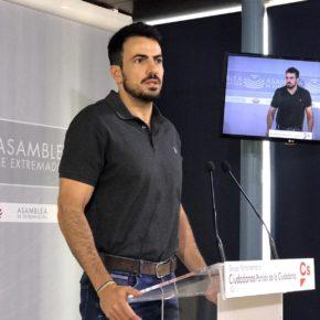 """Ciudadanos se alegra de la bajada del paro pero critica que Extremadura esté """"muy lejos de la media de España y de Europa"""""""