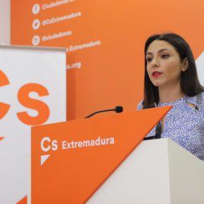 """Calderón (Cs) asegura que el proyecto que tiene el Gobierno nacional para Extremadura """"es cero"""""""