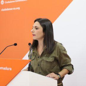 """Calderón (Cs): """"Es vergonzoso el uso electoralista que Vara y Sánchez están haciendo del tren"""""""