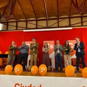 """Calderón y Domínguez defienden la """"regeneración política"""" en dos actos con alcaldes de Cs en Cáceres y Villafranca"""