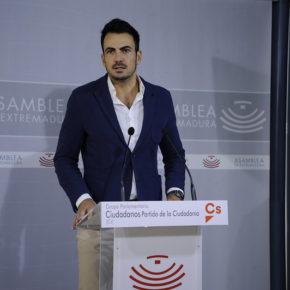 Cs Extremadura registra 162 enmiendas parciales a los PGEx 2020 que mueven más de 79 millones de euros
